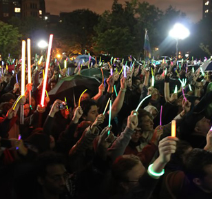 Glowlight Rally in Washington Square Park to combat LGBT youth suicide